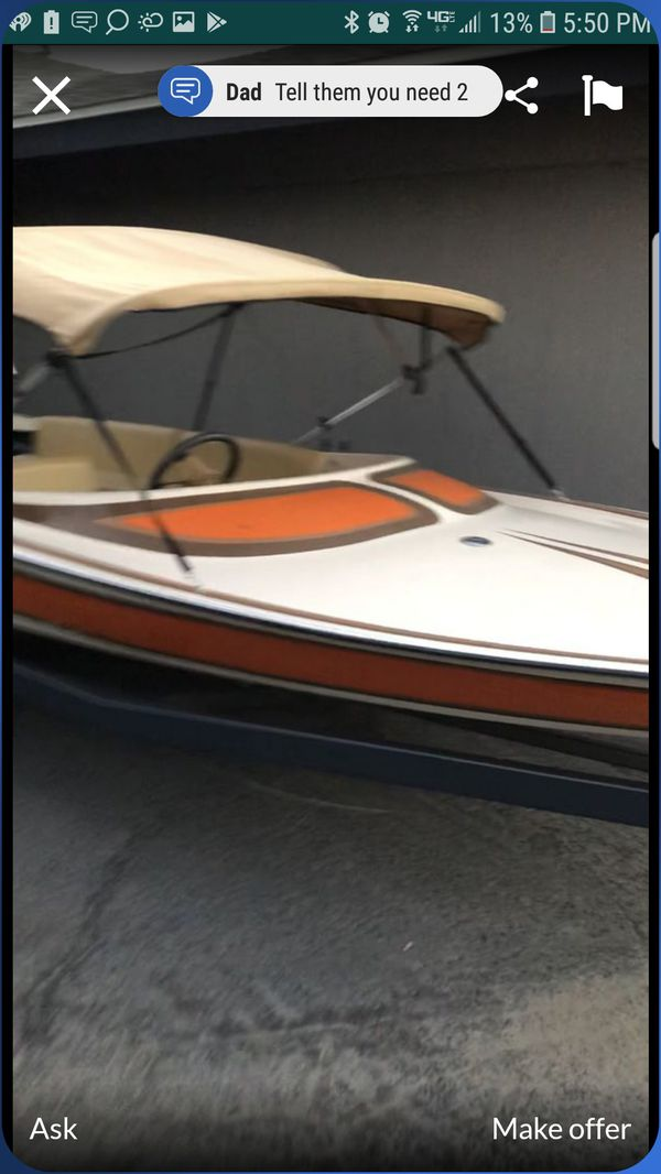Anaheim 18ft crusader with a 117 mercury outboard