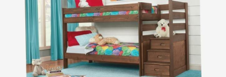 Stair step Bunk bed Solid wood Sturdy reversible for Sale in St. Louis,  MO