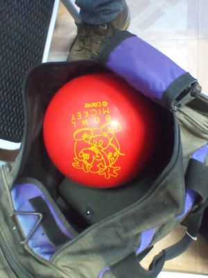 Mickey mouse bowling ball $60 comes with bag for Sale in Atascadero, CA