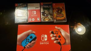 Nintendo switch brand new. Comes with 4 games for Sale in Albuquerque, NM