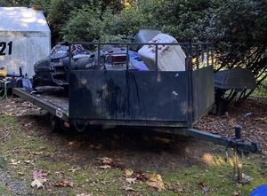 Freeway Snowmobile Trailer w/ 2 well used Snowmobiles for Sale in Maple Valley, WA