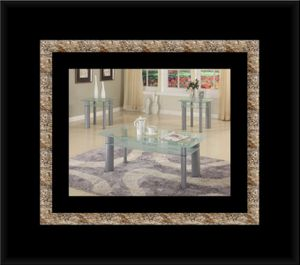 3pc glass white coffee table for Sale in Ashburn, VA