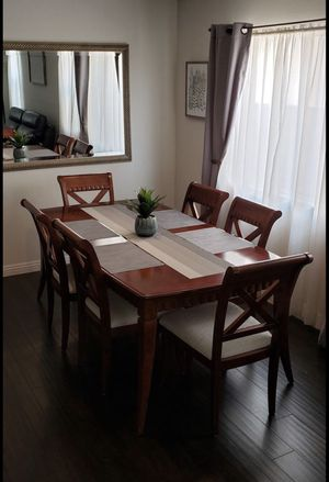 Dining Set - table, 6 chairs, China cabinet (solid wood) for Sale in Corona, CA