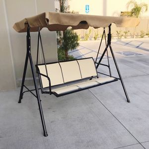 New in box $90 each 528 lbs capacity porch swing bench chair with canopy sun shade sun blocker for Sale in Commerce, CA