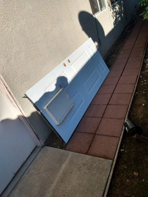 Custom exterior outside small pet door paid over $600 from home Depot selling for $80 for Sale in Lincoln, CA