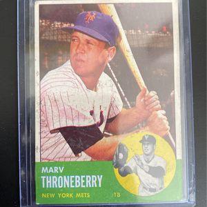 1962 Marv Thorneberry Baseball Card for Sale in Fort Lauderdale, FL