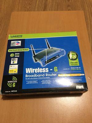 Linksys wireless G router for Sale in Warrenton, VA