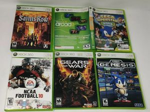 Lot of 6 XBOX 360 Games: Gears of War, Sonic, Saints Row, NCAA Football 10 for Sale in Crofton, MD