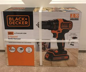 BLACK and DECKER 20V MAX Lithium Cordless 2-Speed Drill / Driver NEW BDCDD220 for Sale in Blackstone, MA
