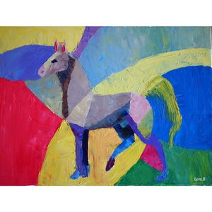 """Crazy circus"" oil painting, horse painting, horse for Sale in Renton, WA"