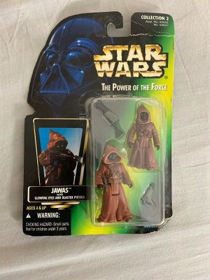 Star Wars Power Of The Force Jawas Green Card Glowing Eyes & Blasters 1996 for Sale in Nazareth, PA
