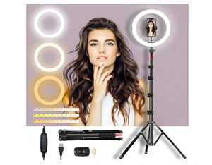 """Selfie Ring Light with Adjustable Tripod Stand & Phone Holder 11"""" Dimmable LED Camera Ring Light for Live Stream/Makeup/Video, with Remote for Sale in Rancho Cucamonga, CA"""