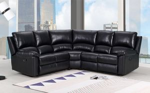 """Only $50 Down! New Power Reclining Sectional. Black Leather. 80"""" x 80"""" x 39"""" H. Free Delivery! for Sale in Downey, CA"""