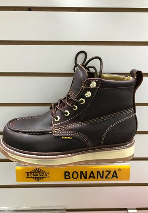 Bonanza work boots real leather for Sale in Westminster, CA