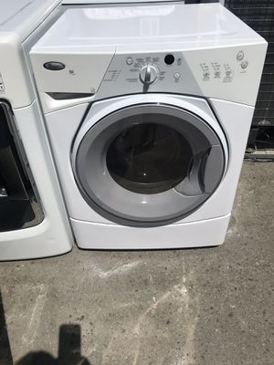 Vertex Appliances. Used, set, front load washer& dryer( electric dryer)( gas dryer)both available , whirlpool brand , energy star, heavy duty, great for Sale in San Jose, CA