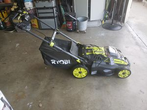 "Ryobi 20"" 40 volt self propelled lawnmower for Sale in Montclair, CA"
