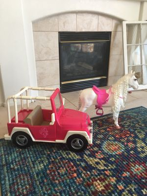 Our Generation Doll Jeep and Pony for Sale in Henderson, NV
