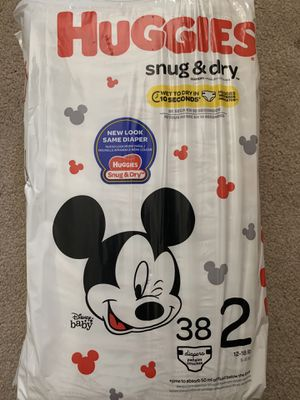 Huggies - Snug & Dry - size 2 for Sale in Fallbrook, CA