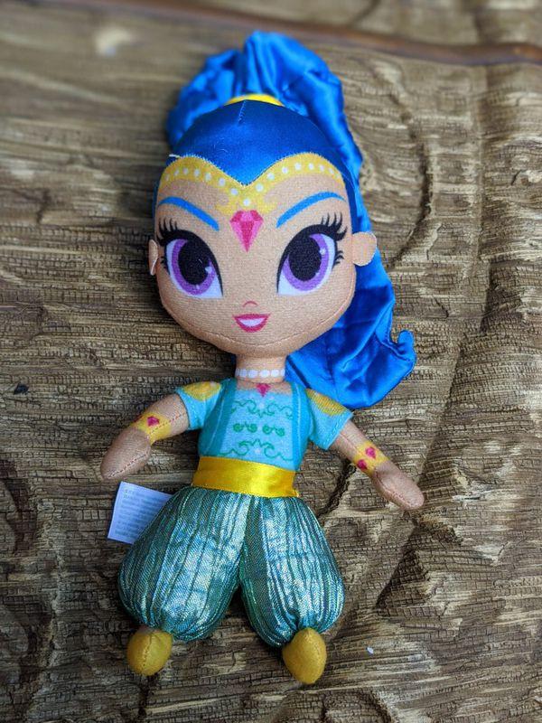 Disney shimmer and shine pair brand new plush stuffed animal toy dolls