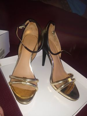 Calvin Klein Ankle Strap Heels Gold and Black Size 8M, Never Used for Sale in San Diego, CA