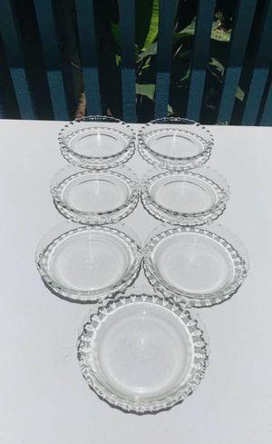 "Set of 7 vintage Pyrex crimped tart / pie plates 6"" diameter for Sale in Huntington Beach, CA"