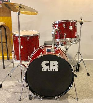 Drum Set, CB SP Series, 4 piece; Snare, Tom, Bass, Floor Tom, Cymbals, Stands, Pedal, Throne, etc. for Sale in Macomb, MI