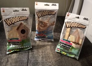 Three Woodworking/Woodshop Kits for Kids for Sale in Delta, CO