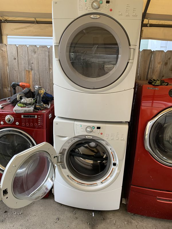 Washer And Dryer Whirlpool Front Load Gas Dryer With 3 Months Warranty Free Delivery