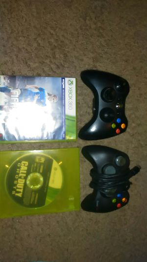 Xbox 360 games and 2 controllers for Sale in Silver Spring, MD