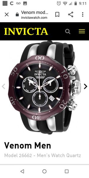 Invicta reserve watch (Venom) for Sale in San Jacinto, CA