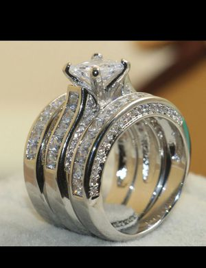 10k gold plated new 3pcs ring for Sale in Dearborn, MI