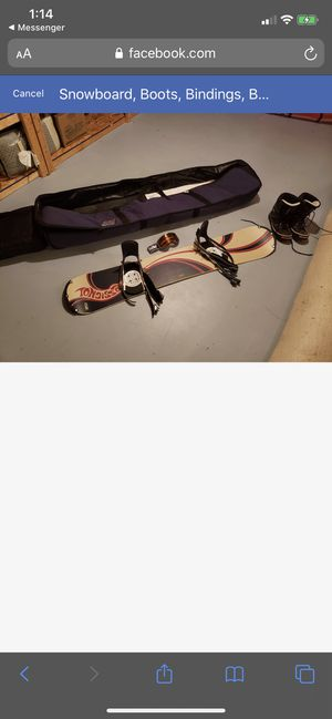 Rossignol 158 Snowboard (Boots,Bindings and Bag) for Sale in Silver Spring, MD