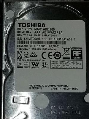 Toshiba 1Tb hard drive for Sale in Washington, DC