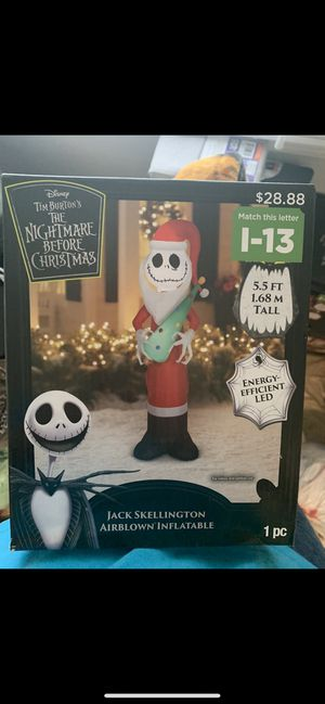 BRAND NEW JACK SKELTON CHRISTMAS INFLATABLE for Sale in Theodore, AL