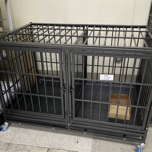 Dog Pet Cage Kennel Size 43 Thick Bar With Divider And Metal Floor Grid New In Box 📦 for Sale in Chino, CA