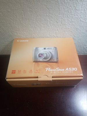 Canon PowerShot A530 5.0MP Digital Camera - Silver for Sale in Mission, TX