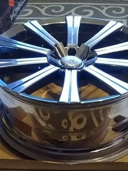 Verda V93 Shift PVD Chrome Wheels 20 * 8.5 Set Of 4 Great Condition .Only Have Three Center Caps for Sale in Stafford,  VA