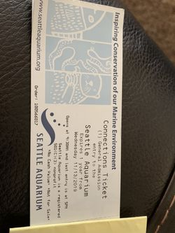 Aquarium Tickets for Sale in Seattle,  WA