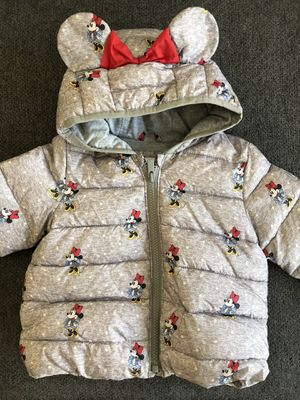 babyGap Disney Minnie Mouse Puff Jacket 12-18M for Sale in Brentwood, CA