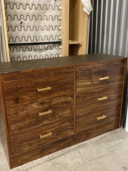 Gold And Wood Retro Dresser for Sale in Redmond,  WA