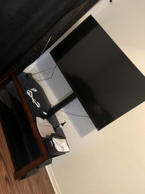 Vizio tv about 55 inch ,and tv stand $350 for both for Sale in Dallas, TX
