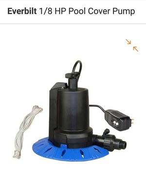 Automatic Pool Cover Pump 1/8 HP was $129 for Sale in Orlando, FL