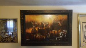 "41"" x 28"" Beautiful Framed Deer Painting/Picture for Sale in St. Louis, MO"