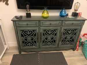 Accent table with storage space and shelves for Sale in Hialeah, FL