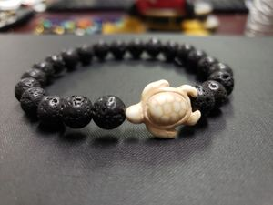 **NATURAL STONE - Turquoise Turtle Lava Rock Oil Essential Bracelet (Block & remove negative energy,healer, Reduce anxiety & stress, Health Benefits) for Sale in Ontario, CA