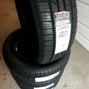 215/60/16 MULTI MILE NEW TIRES for Sale in Pineville, NC