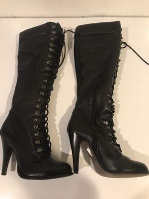 very unique Aldo women's leather boots, size 38 Europe-7.5-8 US for Sale in Lynnwood, WA