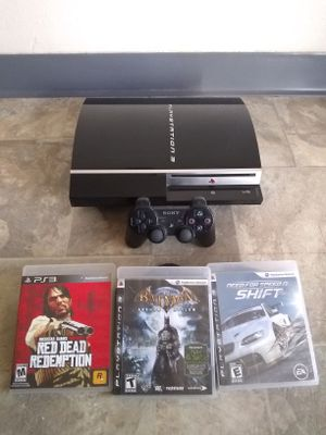 Original Sony Ps3 80Gb With 3 Games for Sale in Fresno, CA