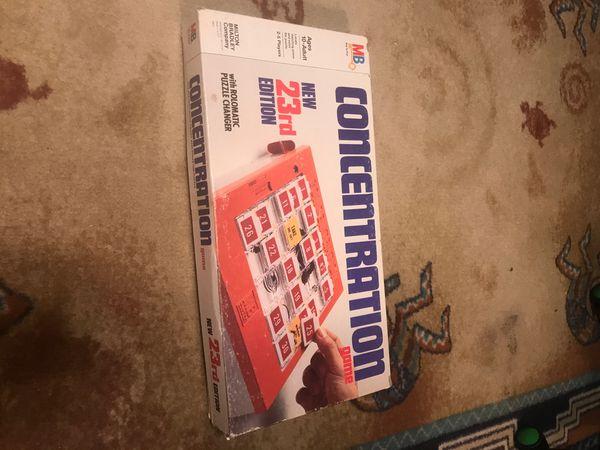 Kids vintage 1979 concentration game puzzle changer