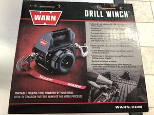 Warn Drill Winch - Brand New. 500 lb. single-line pulling capacity. 30 ft wire rope. for Sale in Griswold, CT